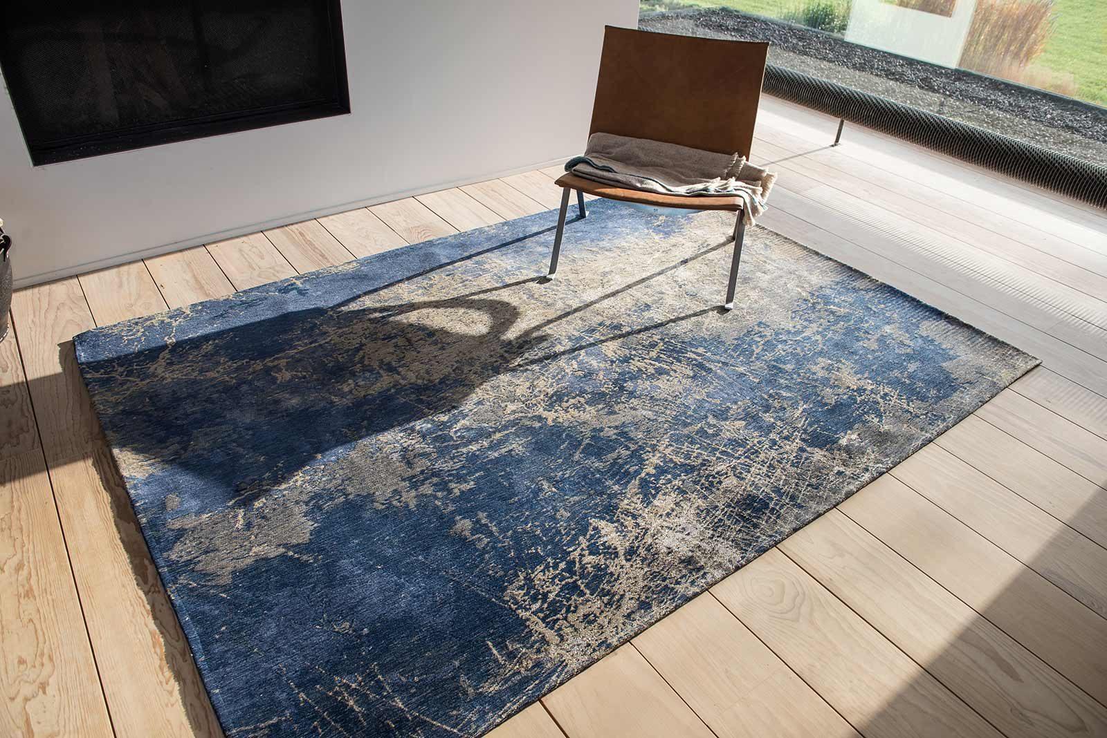 teppich Louis De Poortere LX8629 Mad Men Cracks Abyss Blue interior 2